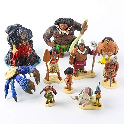 Moana Vaiana - Set 10 Figuras 7-15cm 10 Figures Set 2.5'-6'