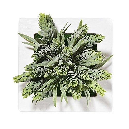ZTTLOL Künstliche Blumen Hängen 3D Bilderrahmen Garten Dekoration Blumenvasen Gefälschte Kunststoff Sukkulenten Wanddekorationen (Hortensie In Voller Größe)
