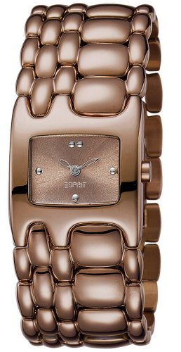 Esprit - Reloj analógico para Mujer de Acero Inoxidable marrón