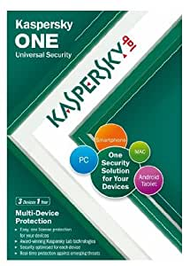 Kaspersky One Universal Security (3 Multi Device, 1 Year subcription) (PC/Mac/Android)