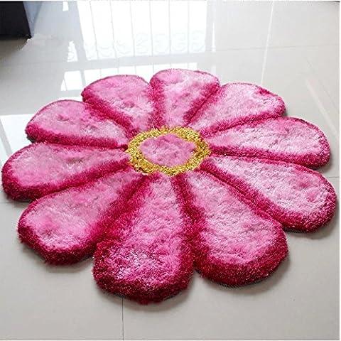 New day-Corea seta sole tappeto tappeto stuoia Zerbini , pink filaments , 100*100cm