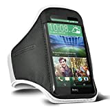 HTC U Play / HTC One A9s / HTC 10 / HTC Desire 530 / HTC One M8 / HTC One M9 Running Sports Armband Gyms Fitness Workout ARM Band Cover Strap (White)