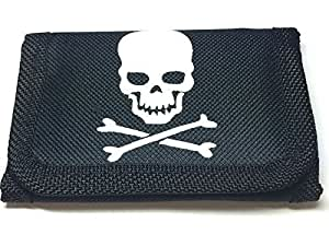 Small Size Black Pirate Design Wallet Size Approx.10.5cm x 7cm
