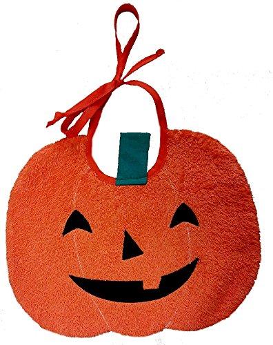 Zigozago bavaglino zucca - halloween - chiusura: laccetti - taglia: unica - misura 25 x 20 cm