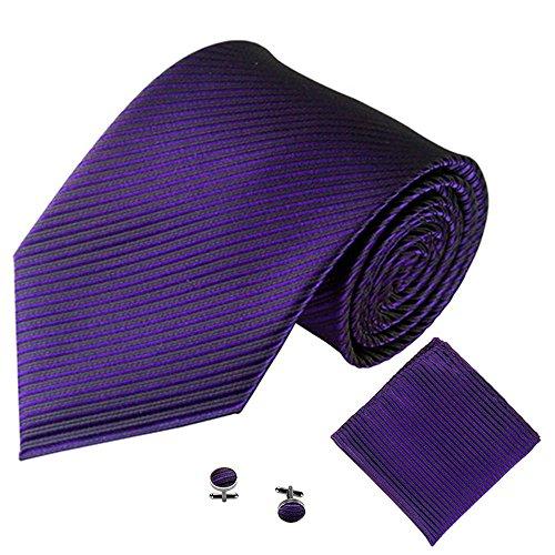 Xmiral Männer Klassische Krawatte Party Taschentuch Krawatte/Einstecktuch / Manschettenknöpfe 3 STÜCKE(H)