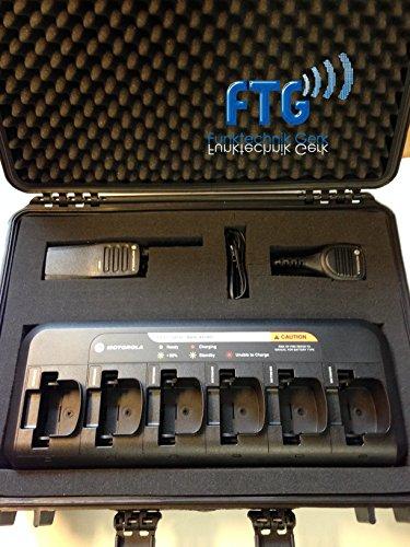 Outdoor 6er Kofferset mit Motorola DP1400 Funkgeräte VHF, 6-fach Lader, LSM für DP Serie + kundenspezifische Programmierung (Motorola Vhf Funkgeräte)
