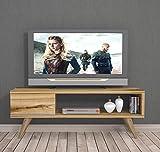 MAYA Mueble salón comedor para televisión con 1 puerta y estante - Naturaleza colour de la madera - Mueble bajo para televisor - Mesa de Televisión en diseño elegante