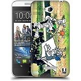 Head Case Designs Acampada Fotos De Aventura Garabateadas Caso Duro Trasero para HTC Desire 616 Dual Sim