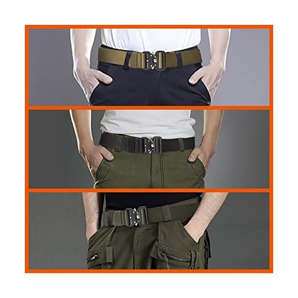 FEIKCOR Cinturón Táctico Cinturón Resistente para Hombres Cinturón Militar DE 1,5 '' Cinturones de Fijación Rápida… 18
