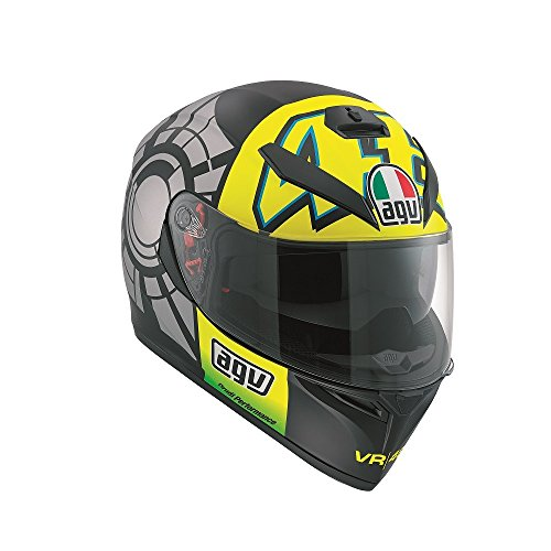 agv, casco K3SV, replica test invernali Valentino Rossi