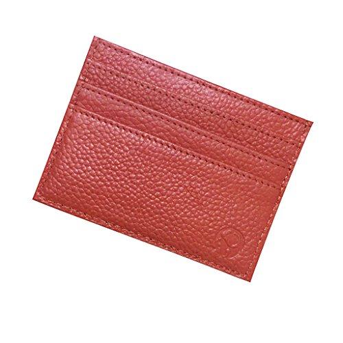 Femme Homme Porte Carte de Crédit Poche Portefeuille Mince en Cuir PU