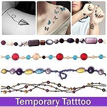 oxgrow (TM) Tatuajes para cuello brazo pierna Cool Sexy impermeable tatuajes adhesivo resistente al agua Tatto tattoing maquillaje pintura Brace Encaje pulsera