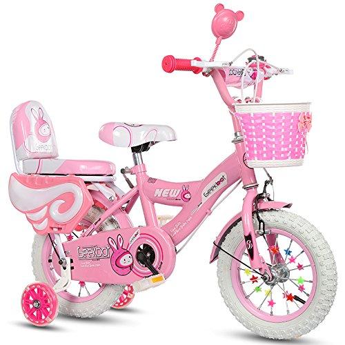 Bicicletta bambini ragazza 12 pollici - Bambina 3-6 anni - Pneumatico gonfiabile - Vestibilità comoda - Pneumatico principessa con pneumatici bianchi - casco di sicurezza e ginocchiere offerti