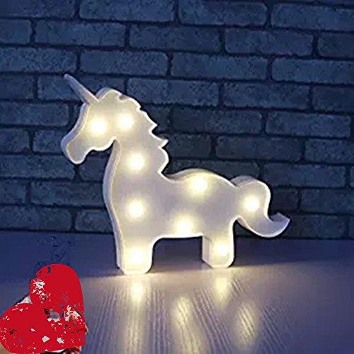 Missley Unicorno LED Lampada Notturna Nube Lampada Romantica Lampada Notturna Lampada Notturna per Bambini Bambini (white Unicorn)