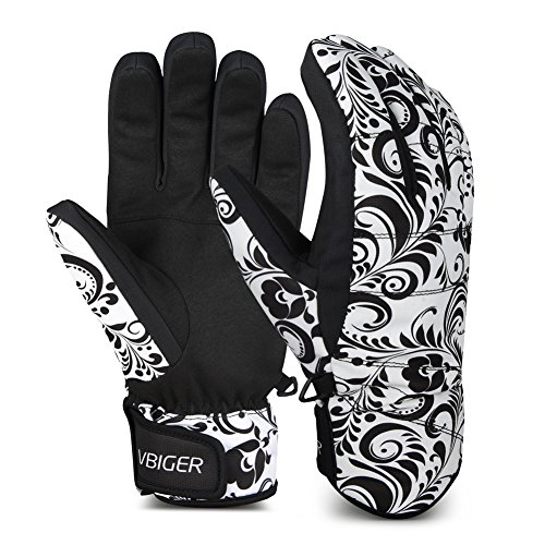 Vbiger Skihandschuhe Skifahren Handschuhe UnisexSchnee Handschuhe Outdoor Handschuhe Win