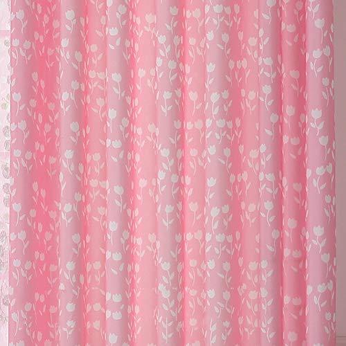 Tulpe Verdicken sie Fenster Vorhang, Garten Wohnzimmer Schlafzimmer Hochzeitszimmer Kinder Bay-Fenster Fertig Halbschatten Tülle verdunkelung Vorhang-D W:250XH:220cm