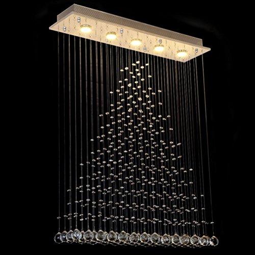 Dst Moderne Regen Tropfen Klar Kristall Deckenleuchte Kronleuchter Hängende Lampen L80cm W20cm H102cm -
