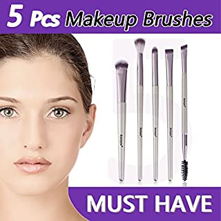 Anmyox Eye Makeup Brush Set, Premium Synthetic Kabuki Cosmetic Eyeshadow Eyebrow Brushes Makeup Brush Tool Kit (5 pcs)