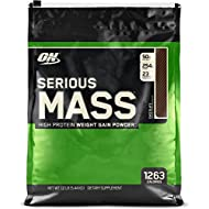 Optimum Nutrition Serious Mass Weight Gain Powder, Chocolate, 5.45 kg