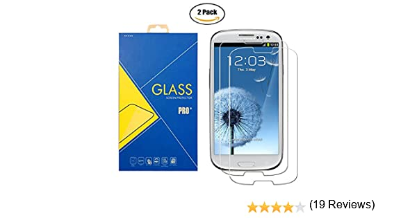 Pellicola Vetro Temperato Samsung Galaxy S3 // S3 Neo 2 Pack GT-i9300 // i9300i // 9300 // i9301i // i9301 // i9301 // SIII Schermo Antiurto Antigraffio