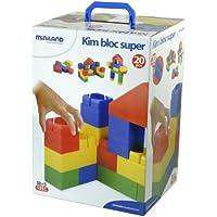 Miniland - Kim bloc súper, 20 piezas en maleta (32471)