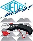 Wedo 078815 Cutter Safety Profi schwarz inklusiv 5 Ersatzklingen (Cutter + 10 Klingen)
