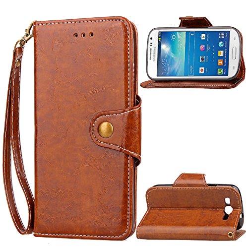 Galaxy S3 Hülle / S III Hülle,[FQY-TEC][Braun]F[PU-Leder]und[TPU]Geldbörse,Kartensteckplatz,Unterstützung Hülle für Samsung I9300 Galaxy S III (4.8