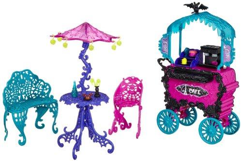 Mattel Monster High Y4308 -  Scaris Straßencafé, mit viel Zubehör