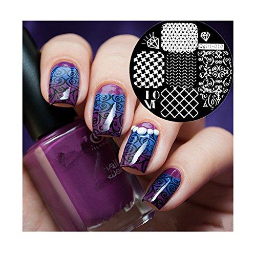 Born Pretty 1 Plaque De Stamping Intégrale Vague Filet #Qgirl-010