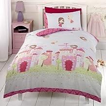 Juego de funda de edredón y de almohada, diseño de castillo de hadas
