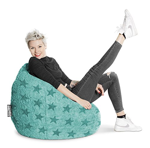 Sitting Point Sitzsack Fluffy Stars XL ca. 220 Liter türkis