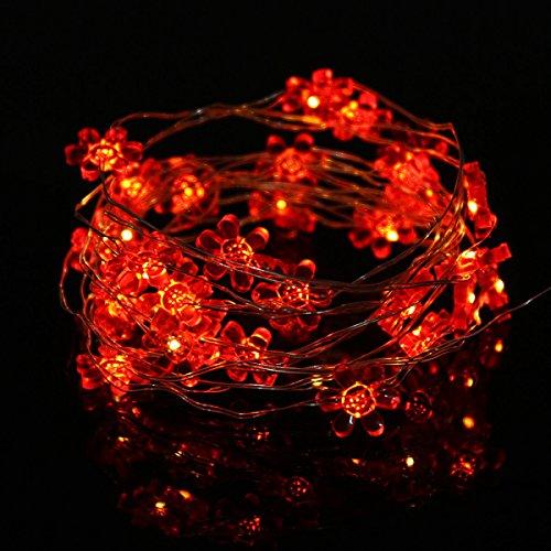 YRHDC Sun Flowers 5m 50leds Kupfer Batteriebetriebene String Lights Wasserdichte Fairy Lights Indoor/Outdoor Use Festliche Lights Low Voltage,Yellow-5m (Low-voltage-beleuchtung-timer)