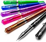 Pilot - G-Tec-C Maica - Ultra Fine Techpoint Gel Pen - 0.4mm - Pack of 6 Assorted Colours