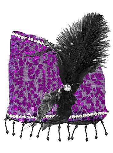 Charleston Pailletten Handtasche - Lila - Zauberhafte Party Umhängetasche zum 20er Jahre Gatsby Kostüm