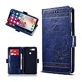 JIENI Hülle für ZTE Nubia Z18 Mini,Flip PU Brieftasche Handyhülle Ledertasche Case Kartenfach Tasche Schale Standfunktion Schutzhülle Cover für (5.20