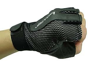 SKL Half Finger Gym Gloves Biker Gloves for Men & Women (Black, S)