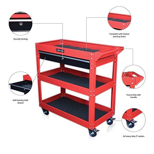 US PRO TOOLS Werkzeug Warenkorb Werkzeug Trolley Workstation Tool Box Cabinet rot mit...