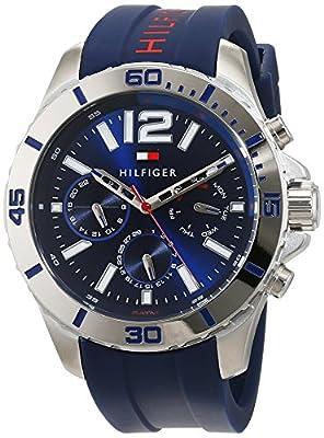 Tommy Hilfiger Hombre Reloj de pulsera analógico cuarzo silicona 1791142 de Tommy Hilfiger