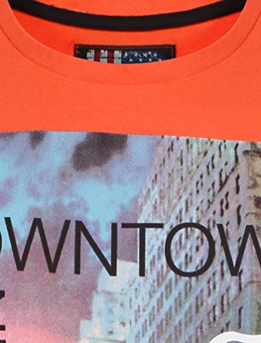 Dissident Herren Big Apple Bedrucktes Baumwoll-T -Shirt Größe S- XL Rot