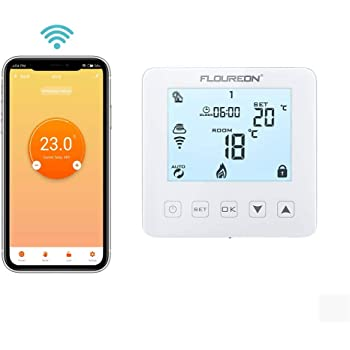 FLOUREON WiFi Thermostat Programmable Digital Mobile APP Compatible amazon