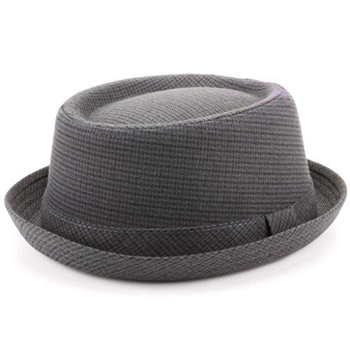 Hawkins Herren Pork Pie-Hut * Einheitsgröße Gr. 59 cm-M/L, Dark Tweed