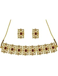 YouBella Jewellery Set for Women Mughal Era Traditional Necklace Jewellery Set with Earrings for Girls/Women