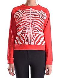 28.5 Women's MCBI001014O Red Cotton Sweatshirt