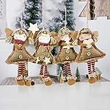 LbojailiAi Adorno Colgante De Navidad Colgante Fiesta Decoración para El Hogar Sonrisa Chica Ángel para árbol De Navidad UNANone