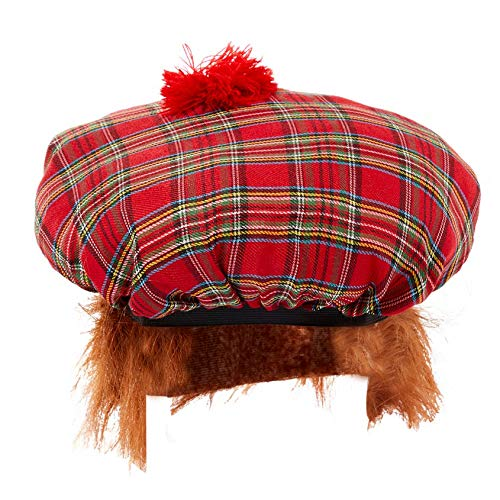 Fancy Me Damen Herren Tam o'Shanter Scottish Rugby Six Nations St Andrew Kostüm Outfit - Tam O Shanter Hut Kostüm