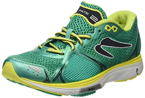 Newton Running Fate II Women's Running Shoe, Zapatillas Mujer, Verde (Green/Yellow), 38.5 EU