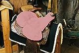 Engel Reitsport Lammfell Sattelsitzbezug western Farbe pink rosa (Sabez 3, mit Hornausschnitt/Horndurchlass)