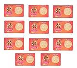 Krisah® 11 pcs Mahalaxmi ATM Card Coin -Gold Plated (11)
