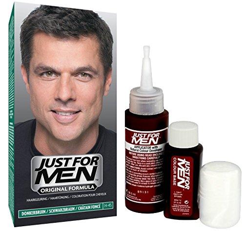 Just for Men - H45 - Haarfärbemittel, Pflege Tönungs Shampoo, Natur Schwarzbraun
