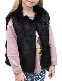 Mädchen Fellweste Wärme Parka Coat Winermantel Jacke Übergangsjacke Outwear Oberteil